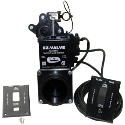 EZ Valve, Electric Waste Valve, 3″ Spigot x Spigot