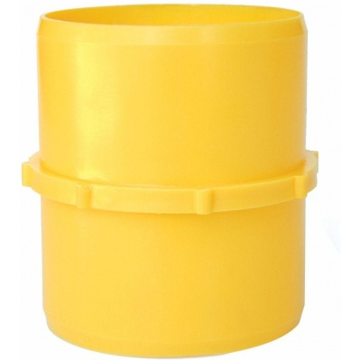Hose Coupler, Straight, 3″ Hose x 3″ Hose, Yellow