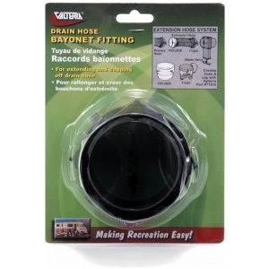 Rotating Bayonet Hose Fitting, Black, Carded