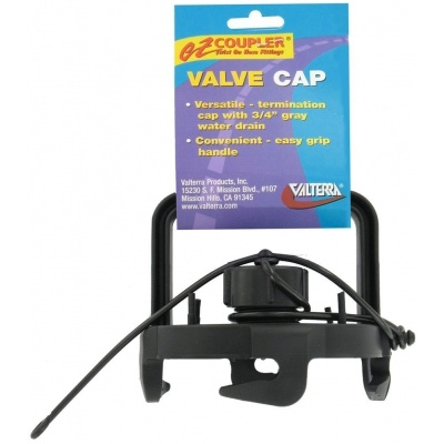 EZ Coupler Valve Cap, With Handle, Black, Carded