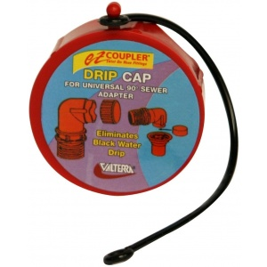 EZ Coupler Drip Cap, Red, Bulk