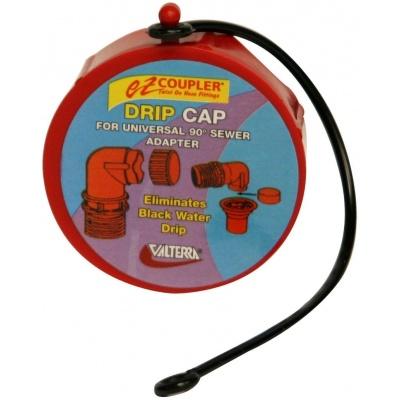 EZ Coupler Drip Cap, Red, Bulk
