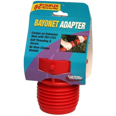 EZ Coupler Bayonet Fitting, Red, Carded