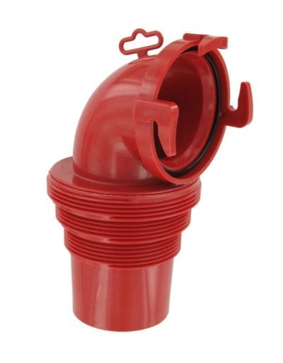 EZ Coupler 90° Bayonet Sewer Fitting, Red, Carded