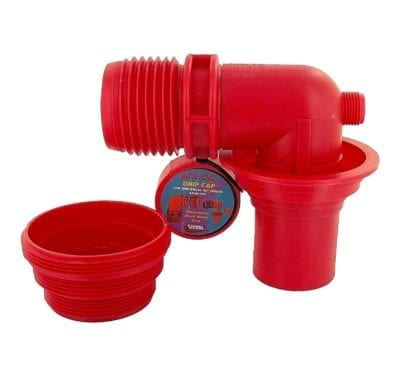 EZ Coupler 90° Sewer Adapter & Thread Attachment, Red, Carded