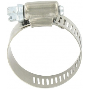 Hose Clamp #16, Stainless Steel, 1-1/16″ x 1-1/2″