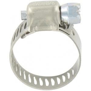 Hose Clamp #6, Stainless Steel, 3/8″ x 7/8″, Micro Gear