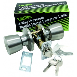 Door Lock, Entrance, Knob x Knob, Master Keyed, Stainless Steel, Boxed