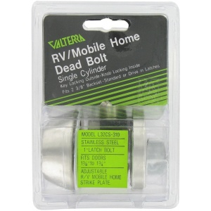 Deadbolt, Single Cylinder, 1″ Throw, Stainless Steel, Clam Shell