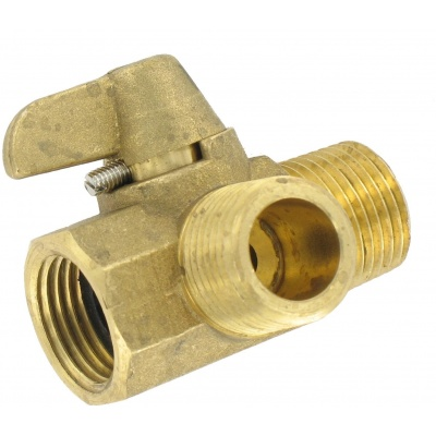 Diverter Valve, Brass, 1/2″, MPT x MPT x FPT, Bulk