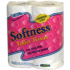 Softness Toilet Tissue, 2-Ply, 4/pk