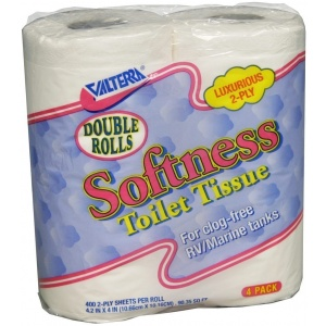 Softness Toilet Tissue Double Rolls, 2-Ply, 4/pk