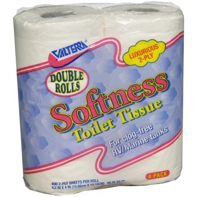 Softness Toilet Tissue Double Rolls, 2-Ply, 4/pk