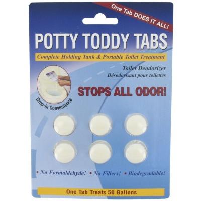Potty Toddy Tabs, 6 Per Card