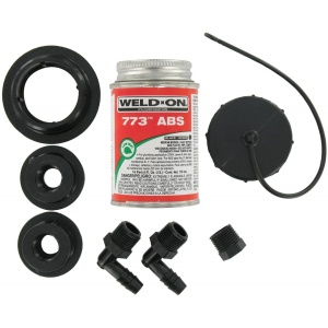ABS Tank Fill Kit, Threaded Cap, with Cement