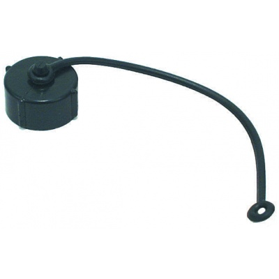 Hose Cap, 3/4″, with Strap, Black, Bulk