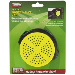 Waste Valve Cap, Vented, Carded