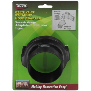 Hose Adapter, 3″, Straight, Black, Carded
