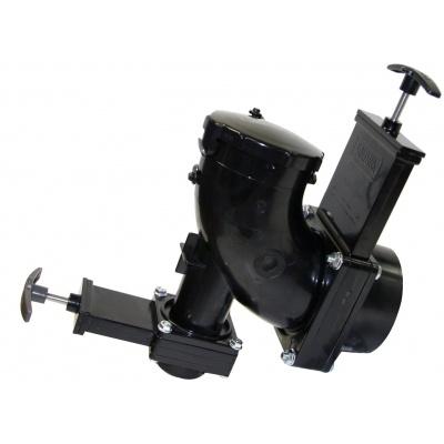 Heel Inlet Rotating Valve, 3″ Hub x 1-1/2″ Spigot x 3″ Bayonet Cap