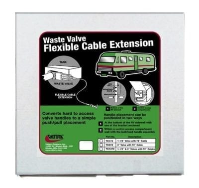 Flexible Cable Kit, 72″, with 1-1/2″ and 3″ Valves, 2 Cables Per Box