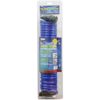 Drinking Water Hose, EZ Coil-N-Store, 25′, Blue