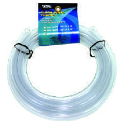 Vinyl Tubing, 1/2″ I.D. x 10′, Clear, Header Card