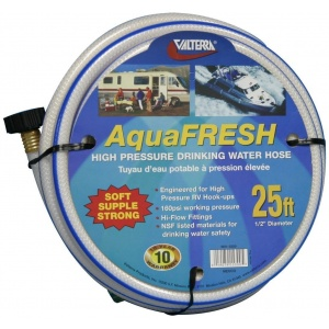 Drinking Water Hose, 1/2″ x 25′, White