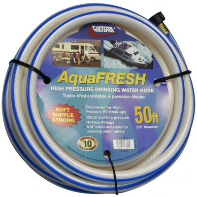 Drinking Water Hose, 5/8″ X 50′, White