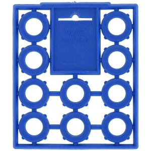 Hose Washers, Blue, 10 Per Card