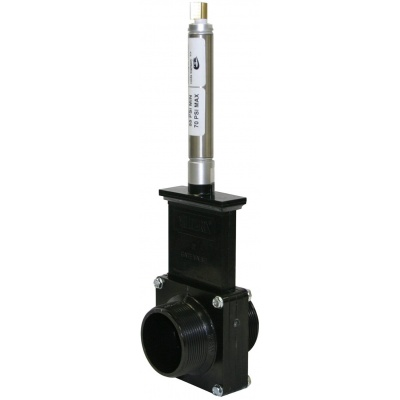 2″ Gate Valves with Plastic Paddles & Pneumatic Cylinder