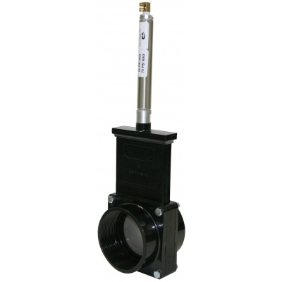 3″ Gate Valves with Plastic Paddles & Pneumatic Cylinder