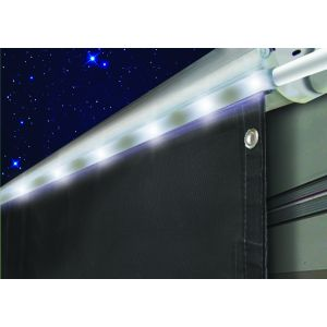 Awning Drape with Solar Rope Lights