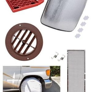 RV Specialty Items - Jack Pads, Wheel & Window Covers, Bug Screens, and A/C Registers