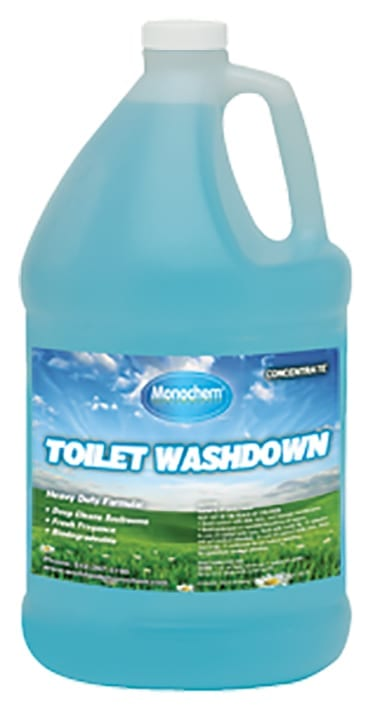 toilet washdown blue